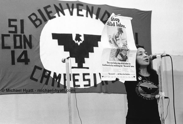 UFW Co-founder Dolores Huerta (West L.A., 1976)